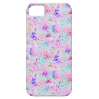 Watercolor floral aster painting pattern iPhone 5 cases