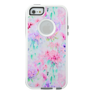 Watercolor floral aster painting pattern OtterBox iPhone 5/5s/SE case