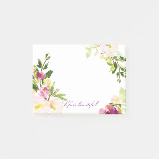 Watercolor Floral Beautiful Post-it Notes
