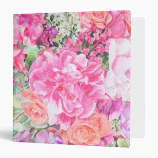 Watercolor Floral Binder