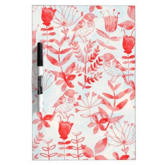 watercolor floral & birds Dry-Erase board