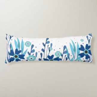 Watercolor Floral Body Pillow