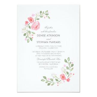 Watercolor Floral Botanical Wedding Card
