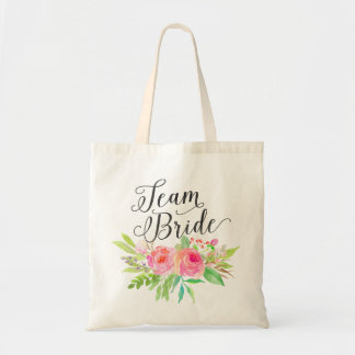 Watercolor Floral Bouquet Team Bride2 Tote Bag