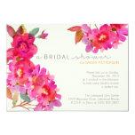"Watercolor Floral Bridal Shower 5"" X 7"" Invitation Card"