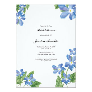 Watercolor Floral Bridal Shower Card