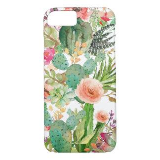 Watercolor Floral Cactus Pattern iPhone 8/7 Case