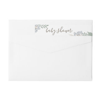 Watercolor Floral Calligraphy return address label