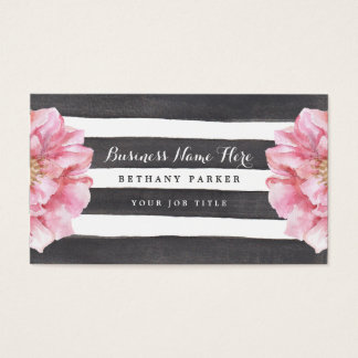 Watercolor Floral Chic Business Cards
