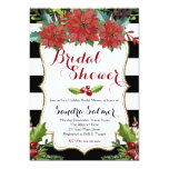 "Watercolor Floral Christmas Bridal Shower 5"" X 7"" Invitation Card"
