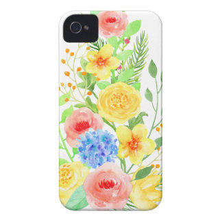 Watercolor Floral Christmas Tree iPhone 4 Cover