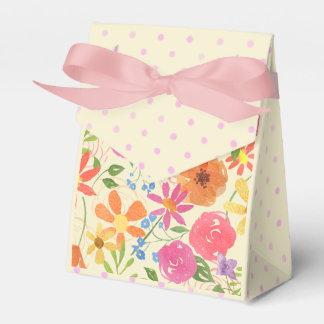 Watercolor Floral Custom Bridal Shower Favor Box