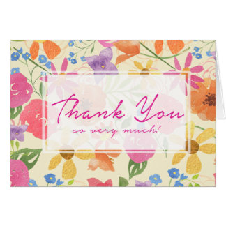 Watercolor Floral Custom Bridal Shower Thank You Card