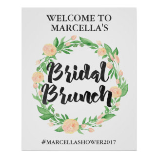 Watercolor Floral Customizable Welcome Sign Poster
