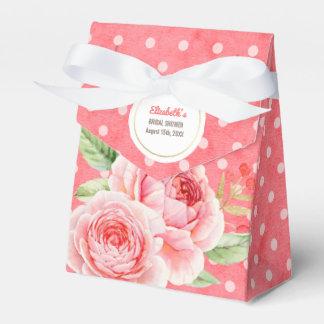Watercolor Floral design Bridal Shower Favor Boxes