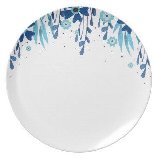 Watercolor Floral Dinnerware Plate