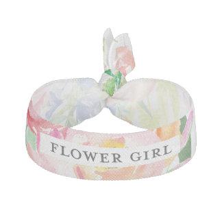 Watercolor Floral Flower Girl Hair Tie