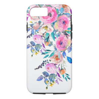 Watercolor Floral Flowers And Foliage iPhone 8/7 Case