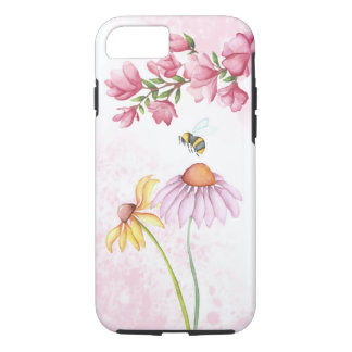 Watercolor Floral Garden Scene iPhone 7, Tough iPhone 7 Case