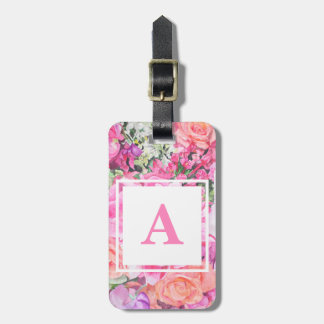 Watercolor Floral Luggage Tag