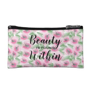 Watercolor Floral Makeup Bag