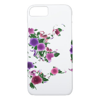 Watercolor floral map iPhone 8/7 case