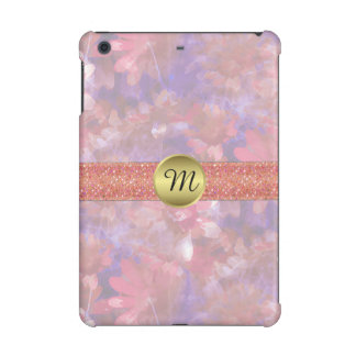 Watercolor Floral Monogram iPad Mini Retina Case
