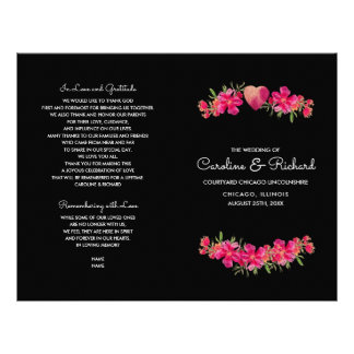 Watercolor Floral Painting Wedding Programs