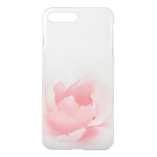 Watercolor Floral Peony Clear iPhone7 Case