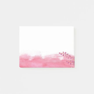Watercolor Floral Post-it Notes