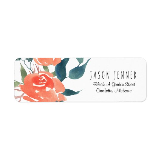 Watercolor Floral Red Rose Wedding Chic