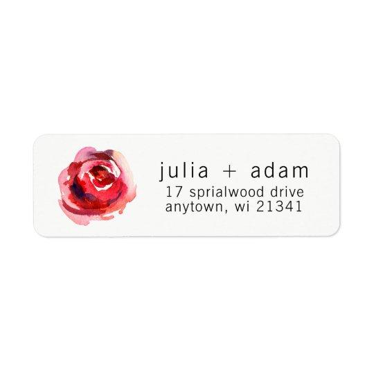 Watercolor Floral Return Address Labels