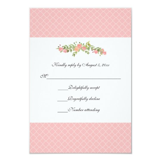 Watercolor Floral RSVP Card