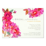 """Watercolor Floral Shower 5"""" X 7"""" Invitation Card"""