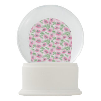 Watercolor Floral Snow Globe