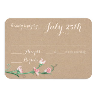 Watercolor Floral Sweet Peas Response Card