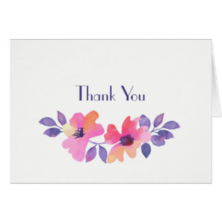 Watercolor Floral Thank You Cards