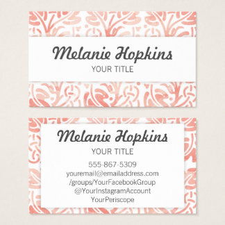 Watercolor Floral Tile Pattern Earth Business Card