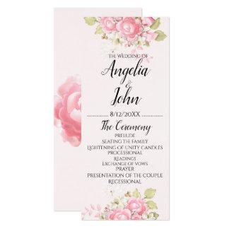 Watercolor Floral Wedding Cermony Card