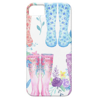 Watercolor floral wellington boots, rubber boots case for the iPhone 5
