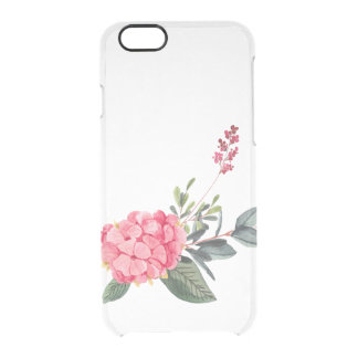 watercolor floral whimsical clear iPhone 6/6S case