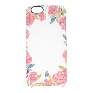watercolor floral whimsical clear iPhone case