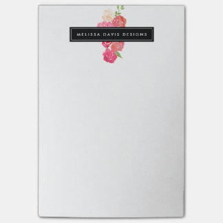 Watercolor Florals Beauty and Design Post-it Notes