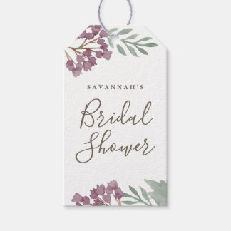 Watercolor florals customizable gift tag | 10 pack