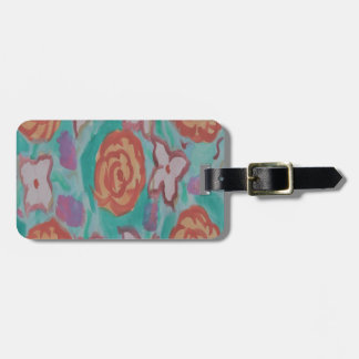 Watercolor Florals Luggage Tag