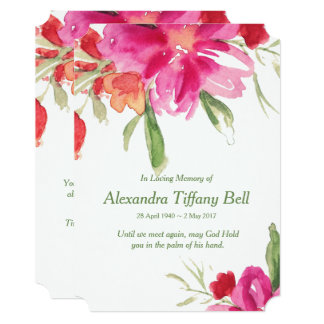 Watercolor Florals Sympathy Thank You Note Card
