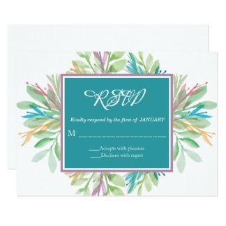 Watercolor Flower 4 - RSVP Card