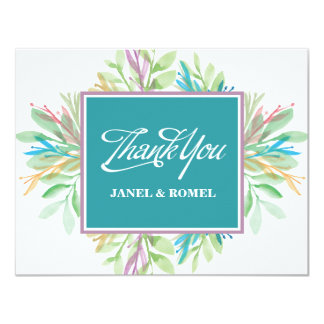 Watercolor Flower 4 - Thank you Card