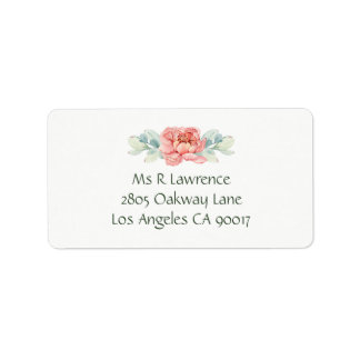 Watercolor Flower Address Labels