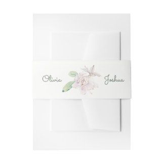 Watercolor Flower Belly Bands Invitation Belly Band